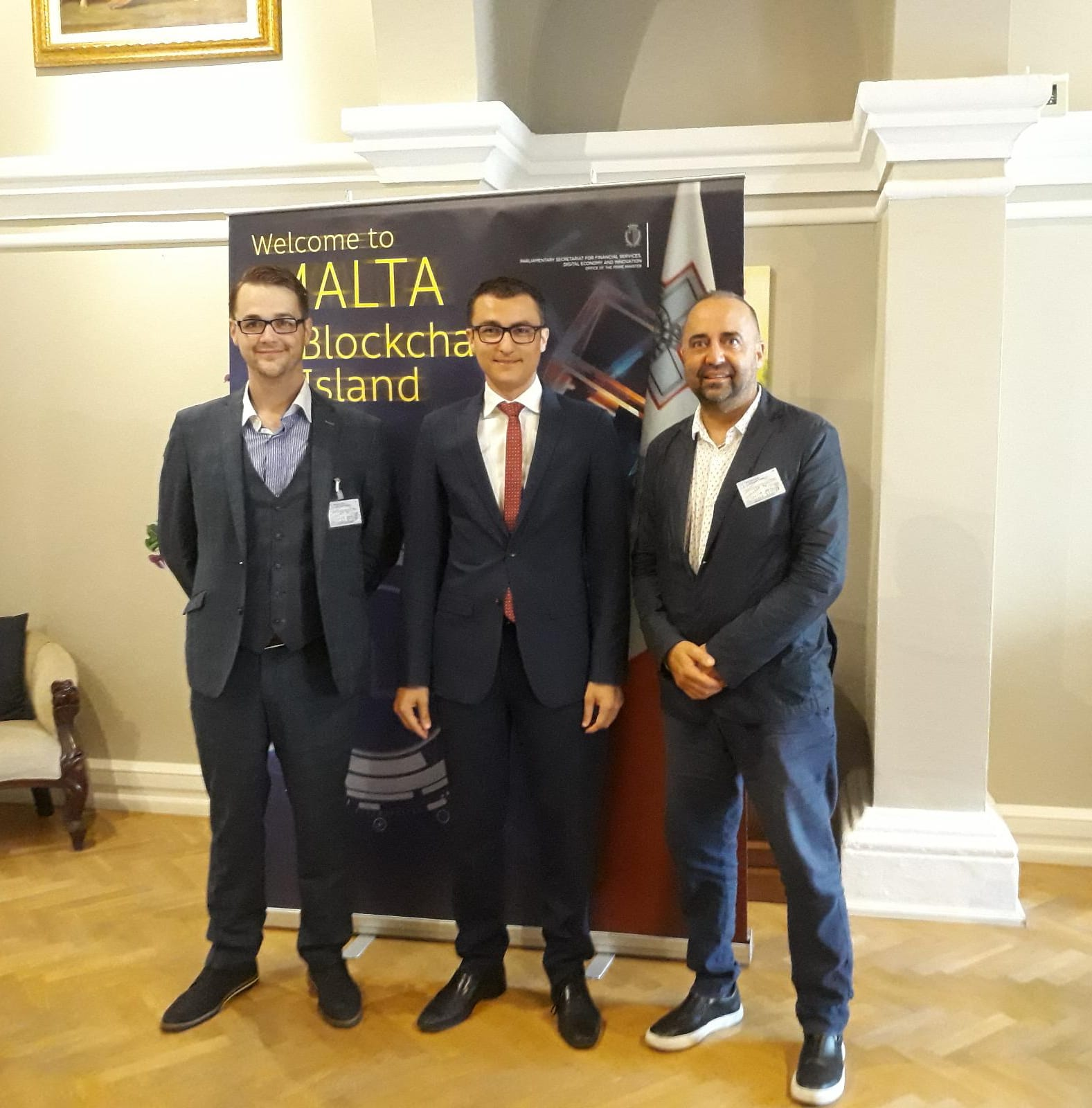 Meeting with Silvio Schembri, Maltese parliamentary secretary who embraces crypto currencies